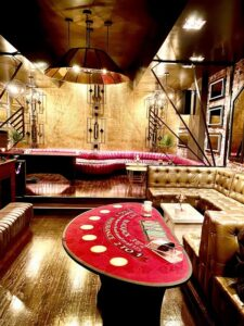 Pop Up Casino Party in Sacramento. Blackjack Table