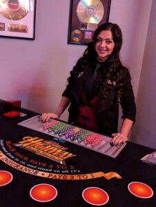 Chelsea Carman Pop Up Casino Party Dealer